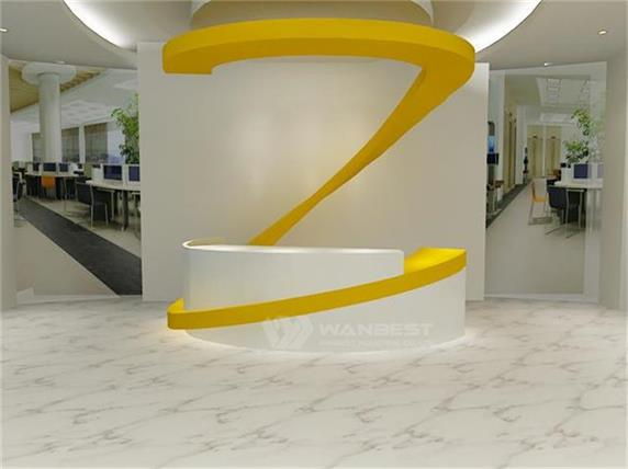 Unique curved design mall reception desk