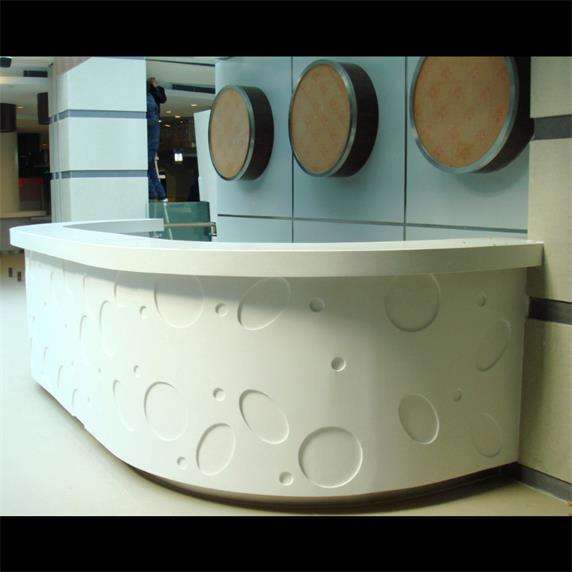 Luxury curved reception desk beauty salon