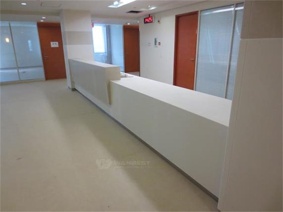 Long hospital clinic reception desk