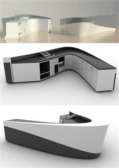 Luxury black and white reception desk