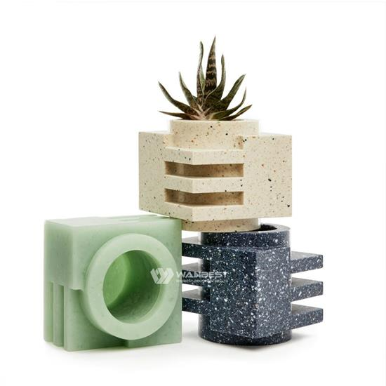 Small Chic artificial stone flowerpot