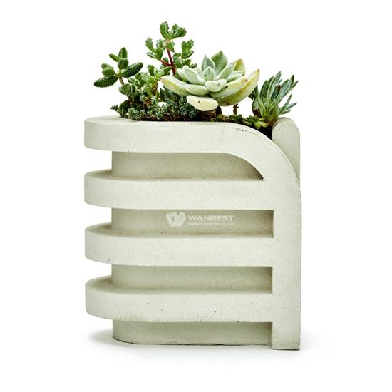Modern elliptical design for small flowerpots