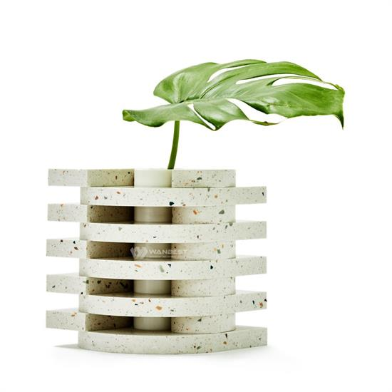 Cylindrical hollow unique design flowerpot