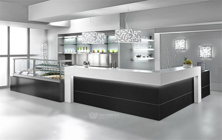 Solid Surface Simple Restaurant Counter