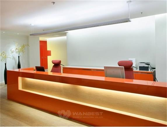 Top 500 Company Front Reception Counter Best Material