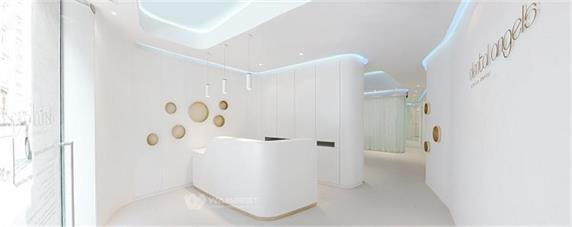 dental reception desk high gloss white stone