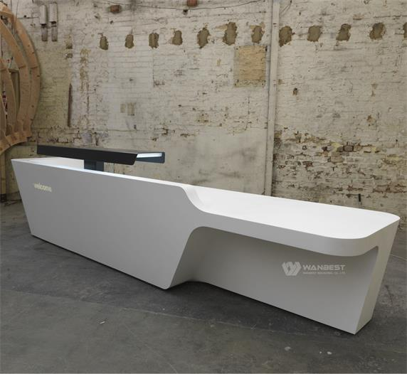 Modern Industial Office Furniture Design White Reception Desk