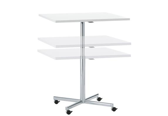 White Corian Restaurant Coffee Adjustable Tables