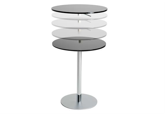 Stone Top Coffee Bistro Bar Adjustable Table