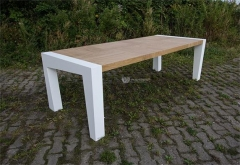 Art Design Timber  Stone Leg Special Dining Table
