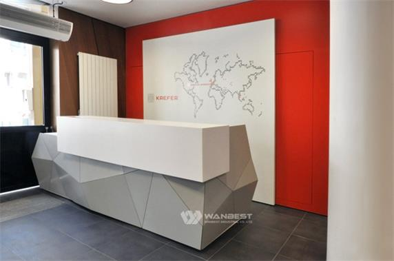 The diamond personal reception counter design for company