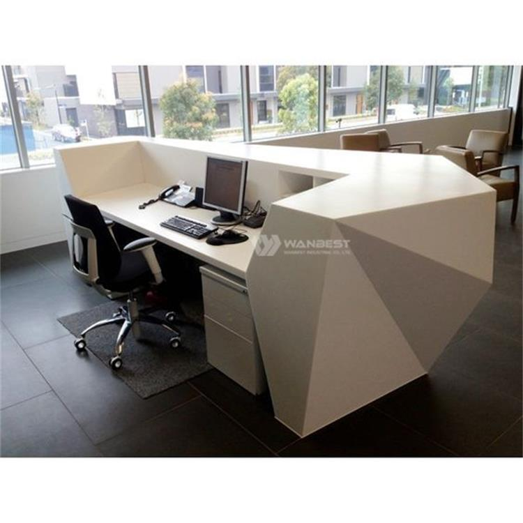 Special diamond reception couunter solid surface stone top supplier