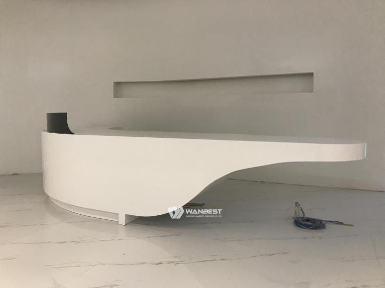 The side of Reception desk