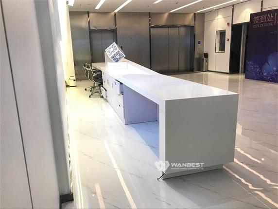 Super long straight popular large enterprise reception desk