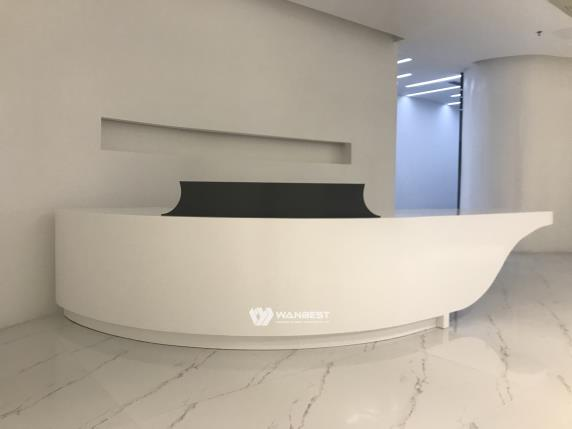 Curved reception desk private custom design  for company