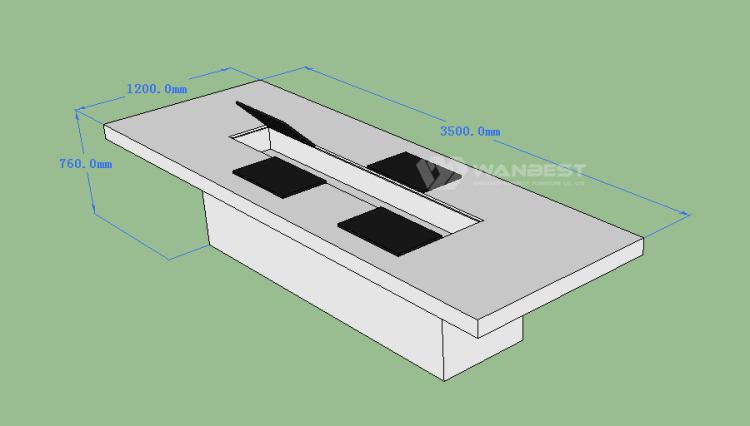 Conference counter 3D drawing