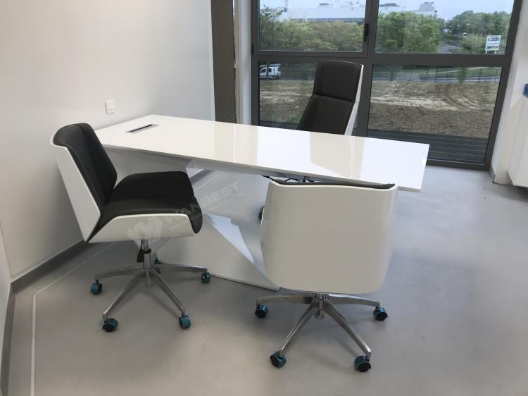 solid surface office desk