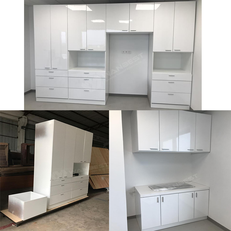 Storage cabinet with many cabinets