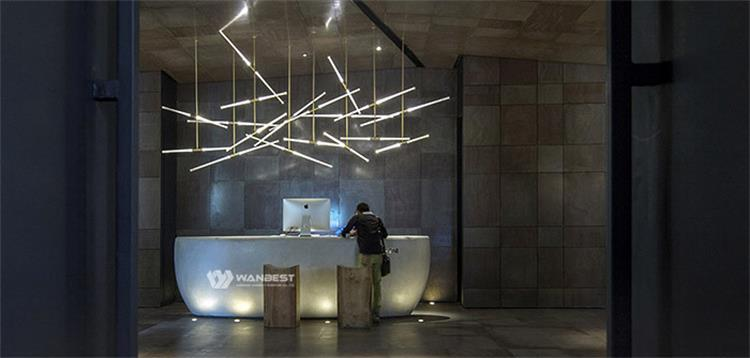 Reception desk in the lobby