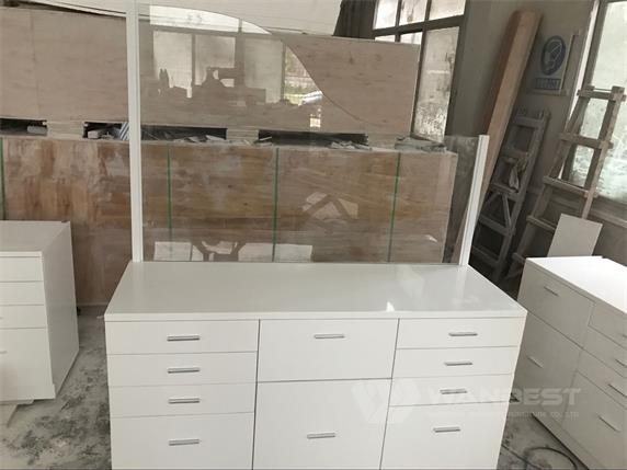 Hospital specialized office desk with tempered glass