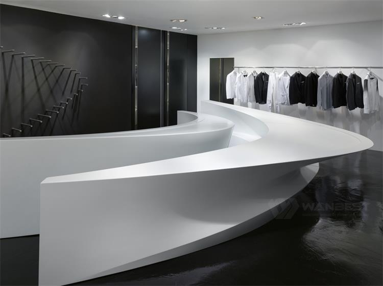 Artificial stone Reception desk-side