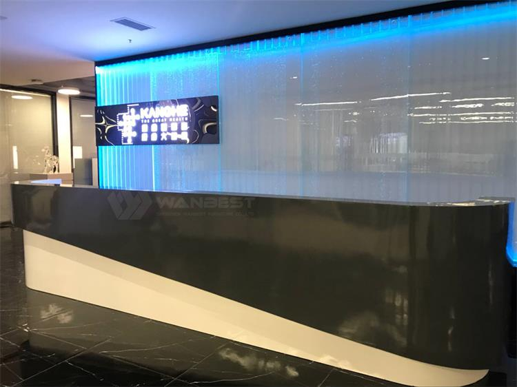 White and black Reception desk-4