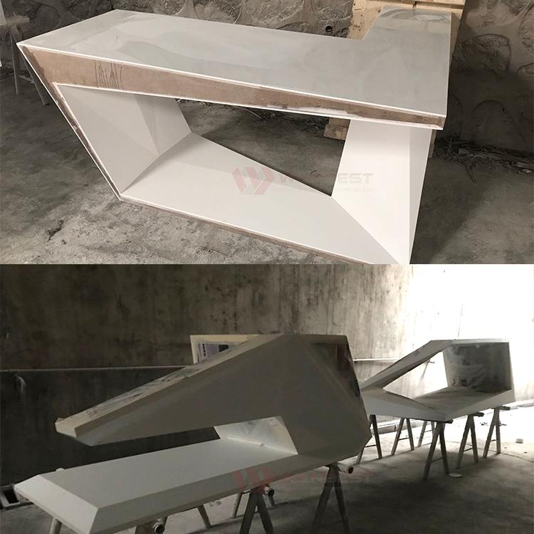 Artificial stone desk