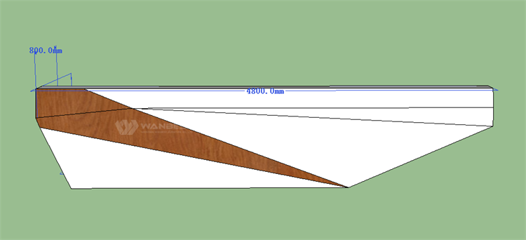 Front desk 3D drawing-front