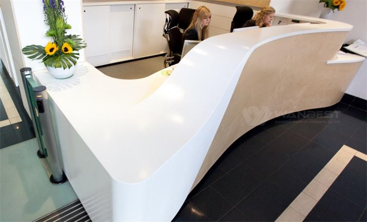 Reception desk -white