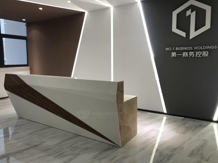 The part of reception desk