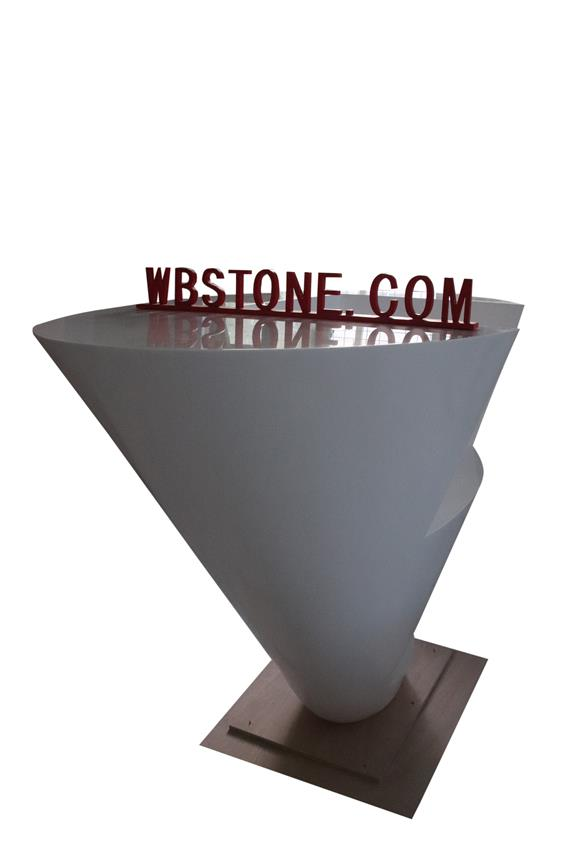 White Inverted Triangle Special Comapny Reception Desk