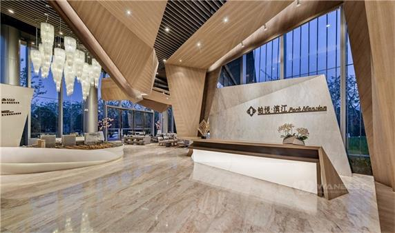 Beauty patter marble hotel latest reception counter design