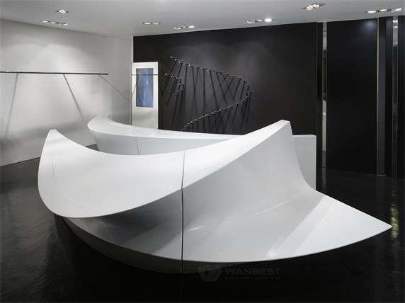 Robuste and durable material solid surface CEO reception desk