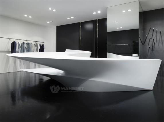 Robuste and durable material solid surface reception desk