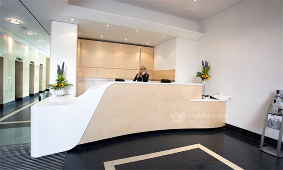 Executive office competitive price corner used reception desk