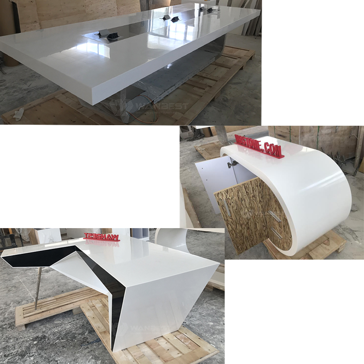 Artificial stone desk