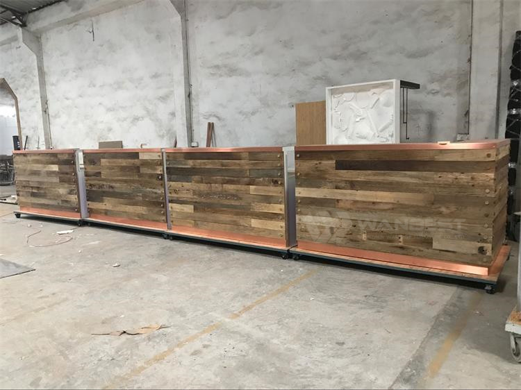 Large bar counter