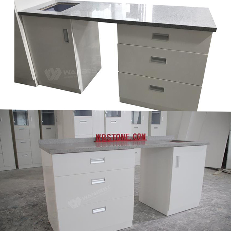 Corian kitchen counter with sink
