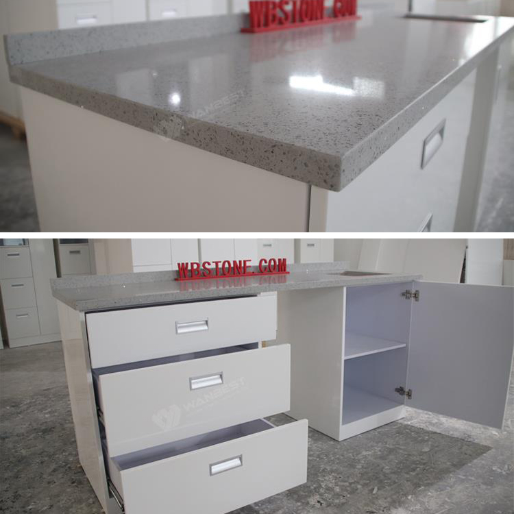 The details of kitchen counter with sink