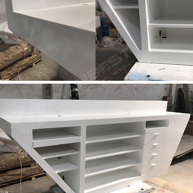 More details of reception desk