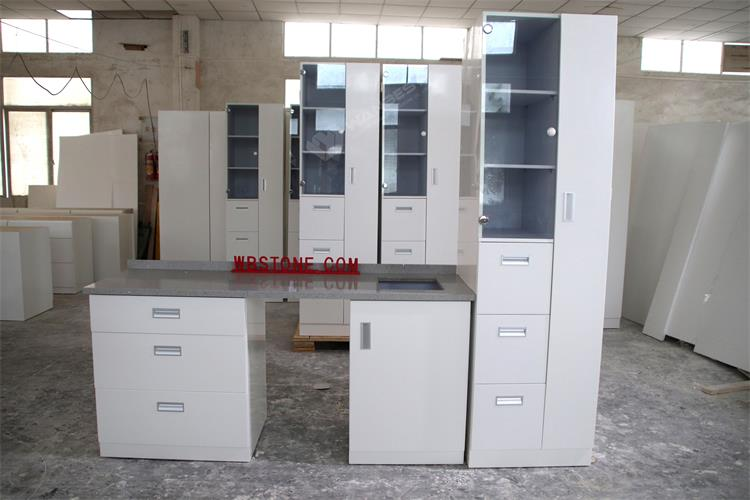 A set artificial stone kitchen counter