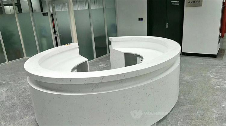 Artificial stone front counter