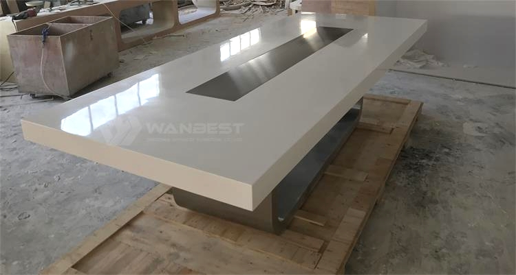 Artificial stone conference table