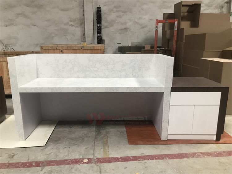 The behind of reception desk