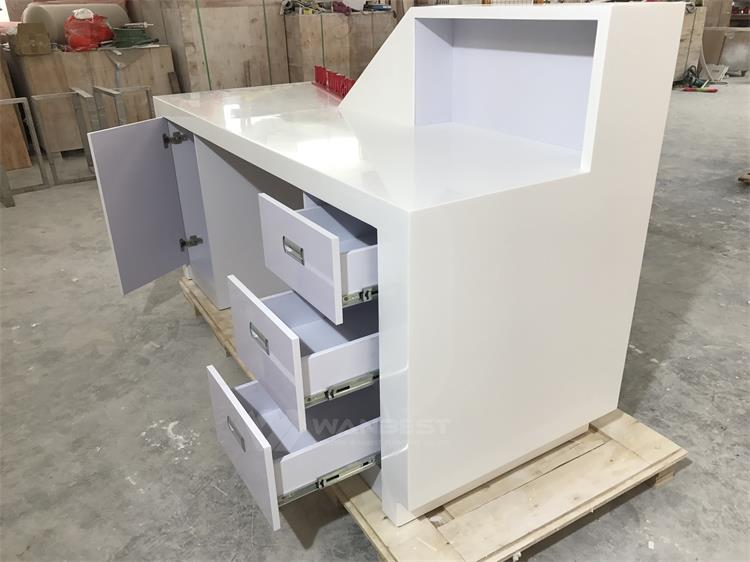LED lighting corian reception desk