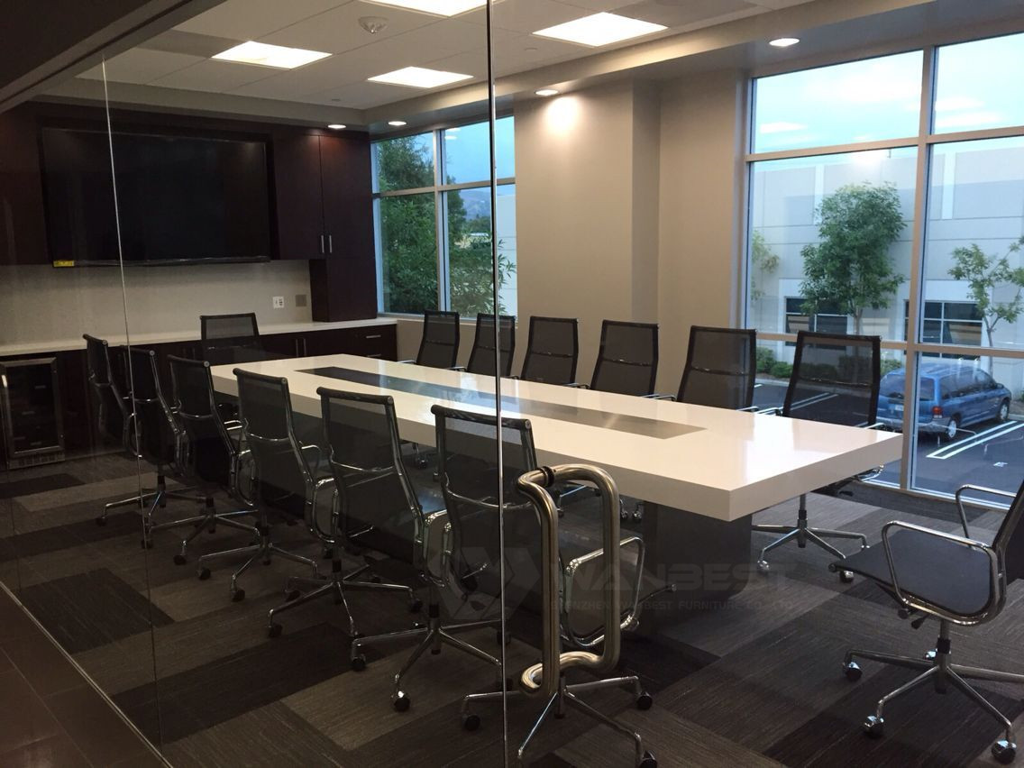 Solid surface conference table