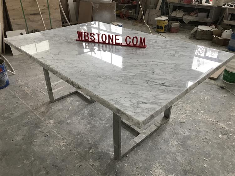Short marble conferent table