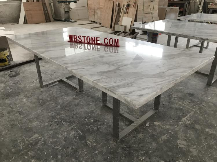 Long marble meeting table