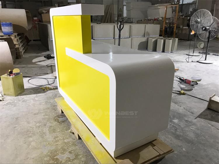 One seat of corian reception desk