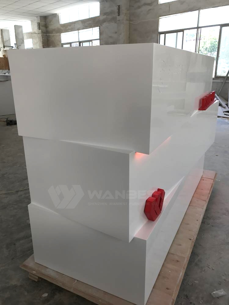LED lighting reception desk